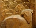 Betlém, detail ovce a berana.